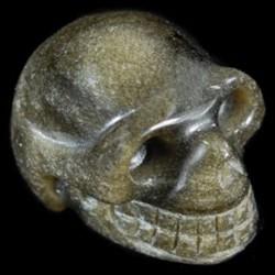 goud Obsidiaan schedel