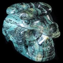 Zebra Jaspis kundalini schedel