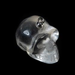Bergkristal schedel-hanger