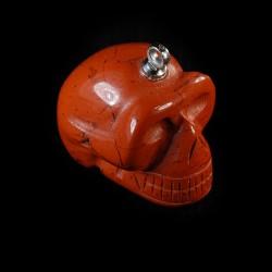 Rode-Jaspis schedel-hanger