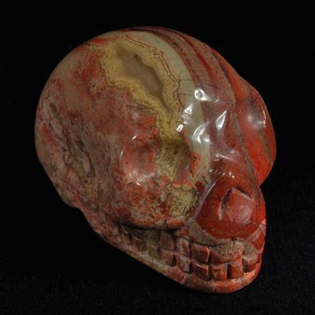 Jaspis regenboog schedel