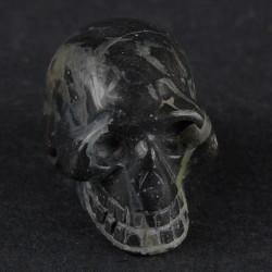 Zilver blad jaspis schedel