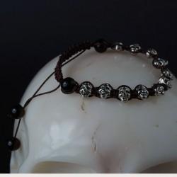 Schedel armband Tibet Zilver