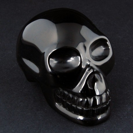 zwart obsidiaan schedel