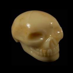 Geel Chalcedon schedel