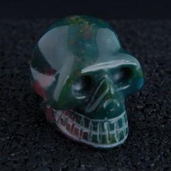 Heliotroop (bloedsteen) schedel