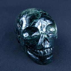 donkergroen serpentijn schedel