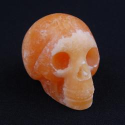 Calciet oranje schedel